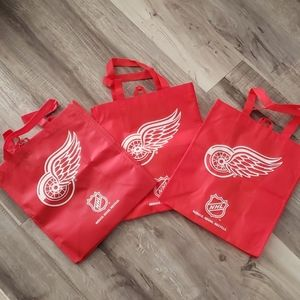 Detroit Red Wings Reusable Bag / Tote (lot of 3)